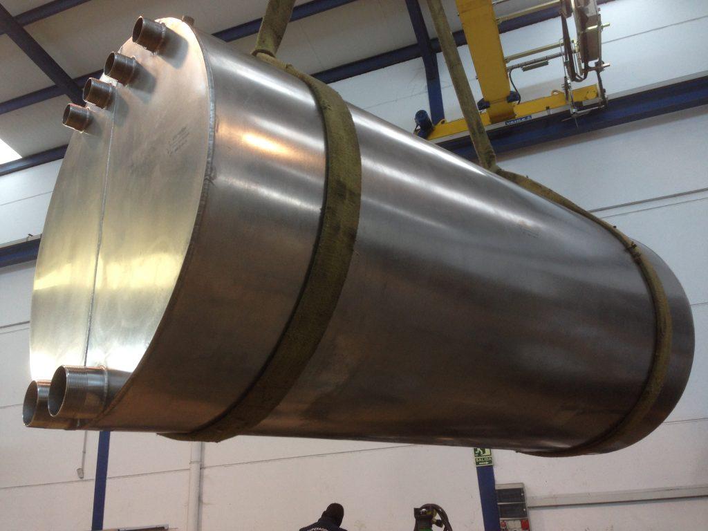 Depósito acero inoxidable cuenca tanques cubetas acero inoxidable