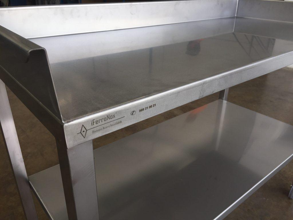 Mesa trabajo horno asador iferronox - Mesa acero inoxidable para cocina ...
